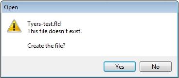 Figure 4. Create the .fld file